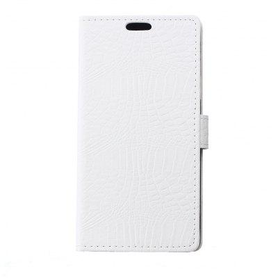 Buy WHITE 1001# KaZiNe Crocodile Texture Wallet Stand Leather Cover Case for BQ X5 for $5.48 in GearBest store