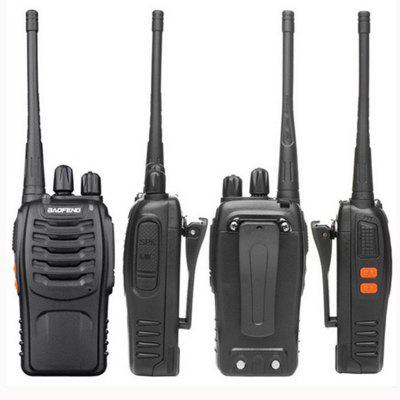 BaoFeng 4pcs BF-888S Walkie Talkie UHF400-470MHZ Portable Radio Interphone HamWalkie Talkies<br>BaoFeng 4pcs BF-888S Walkie Talkie UHF400-470MHZ Portable Radio Interphone Ham<br><br>Antenna Impedance: 50?<br>Brand: Baofeng<br>Channels: Under 20 Channel<br>Earpiece/MIC Type: TK<br>Feature: Excellent Sound Quality<br>Frequency Bands: UHF<br>Frequency Stability: ±2.5ppm<br>Main Functions: PC Programmable, FM radio, English voice prompt<br>Model Number: 888S<br>Operating temperature: -30°c-+60°c<br>Package Contents: 4 x Portable Radio, 4 x Antenna, 4 x Li-ion Battery Pack, 4 x Desktop Charger, 4 x Belt clip, 4 x Handstrap, 4 x Users English Manual<br>Package Dimension: 20.00 x 15.00 x 20.00 cm / 7.87 x 5.91 x 7.87 inches<br>Package weight: 1.6000 kg<br>Product Dimension: 11.00 x 5.00 x 3.20 cm / 4.33 x 1.97 x 1.26 inches<br>Product weight: 0.2000 kg
