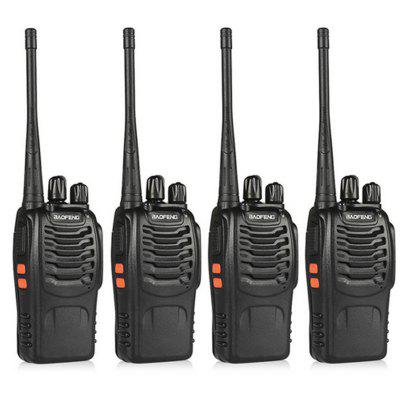 BaoFeng 4pcs BF-888S Walkie Talkie UHF400-470MHZ Portable Radio Interphone Ham