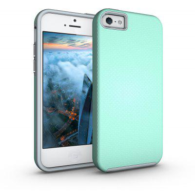 Shockproof Non-slip Dual Layer Sturdy PC TPU Durable Hard Case Impat Shock-Defender Rubber Cover for iPhone 5 / 5S / SE