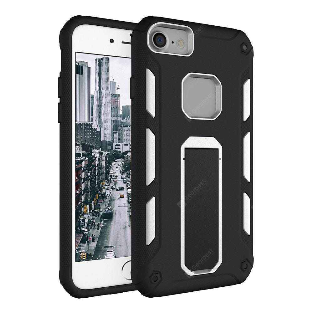 Hybrid Dual Layer Rugged Shockproof Drop Proof Hard Back Cover Kickstand Protective Case for iPhone 6 / 6S / 7