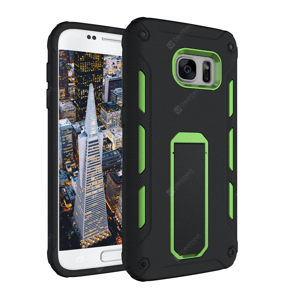 GREEN Hybrid Dual Layer Rugged Shockproof Drop Proof Hard Back Cover Kickstand Protective Case for Samsung Galaxy S7