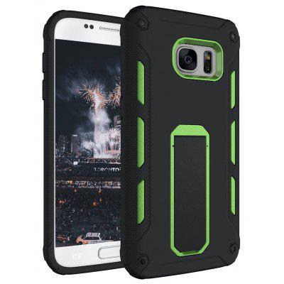 Buy GREEN Hybrid Dual Layer Rugged Shockproof Drop Proof Hard Back Cover Kickstand Protective Case for Samsung Galaxy S7 Edge for $4.12 in GearBest store