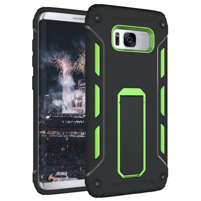 Buy GREEN Hybrid Dual Layer Rugged Shockproof Drop Proof Hard Back Cover Kickstand Protective Case for Samsung Galaxy S8 for $4.12 in GearBest store