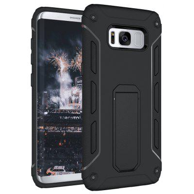 Buy BLACK Hybrid Dual Layer Rugged Shockproof Drop Proof Hard Back Cover Kickstand Protective Case for Samsung Galaxy S8 Plus for $4.12 in GearBest store
