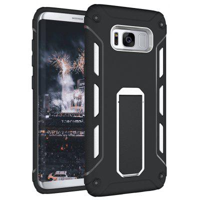 Buy WHITE Hybrid Dual Layer Rugged Shockproof Drop Proof Hard Back Cover Kickstand Protective Case for Samsung Galaxy S8 Plus for $4.12 in GearBest store