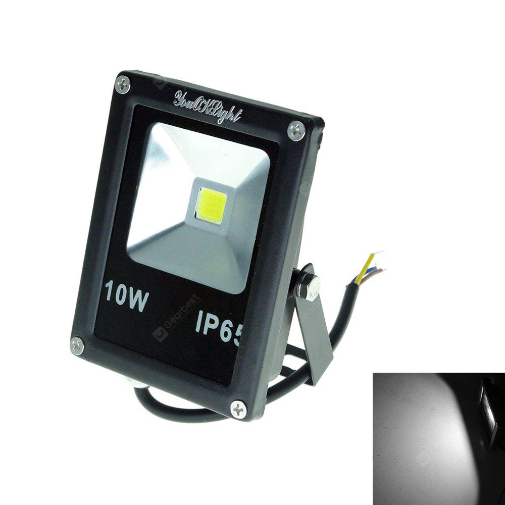 YouOKLight 1pcs 10W Cold White IP65 LED Outdoor Flood Light AC 85 - 265V