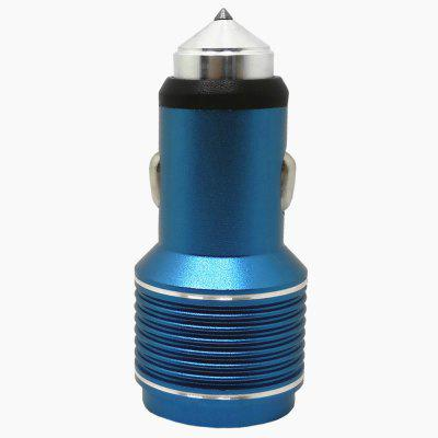 Type-C Stainless Steel + Aluminum Safety Hammer Car Charger 3.1 A