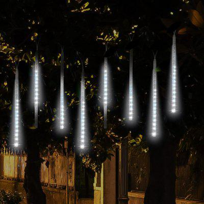 KWB LED Meteor Shower Rain Waterproof Led Tubes String Lights 30CM  8 Tubes White / Blue / RGB Color Snow Fall String Cascading Lights for Party Holiday