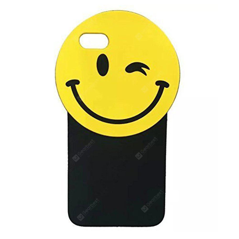 3D Soft Silicone Yellow Smiling Emoji Case para iPhone 6 / 6S