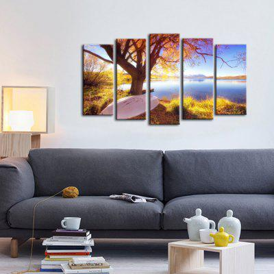 Buy MULTI-COLOR ART Five Panels Landscape Painting Printed on Canvas Ready to Hang for $45.34 in GearBest store