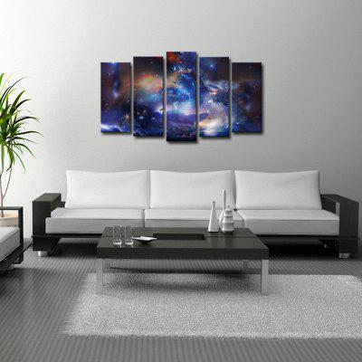 Buy BLUE AND BLACK ART Nebula Pictures Printed on Canvas Painting Wall Decoration for Home Living Room for $45.34 in GearBest store