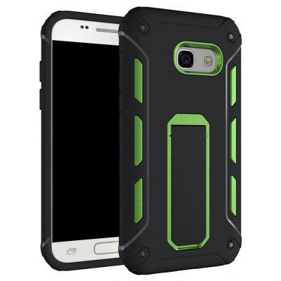 Buy GREEN Hybrid Dual Layer Rugged Shockproof Drop Proof Hard Back Cover Kickstand Protective Case for Samsung Galaxy A3 2017 for $2.81 in GearBest store