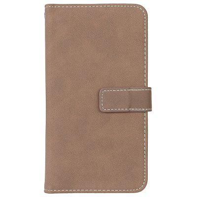 Wkae Grind Arenaceous PU Leather Flip Stand Case com Carteira e Nine Card Slots para LG LS770 G4 Stylus