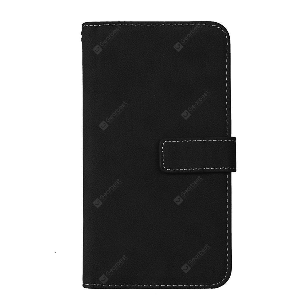 Wkae Grind Arenaceous PU Leather Flip Stand Case com Carteira e Nine Card Slots para LG X MAX X5