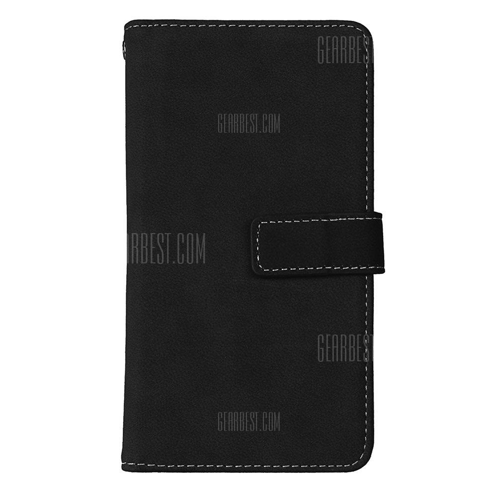 Wkae Grind Arenaceous PU Leather Flip Stand Case com Carteira e Nine Card Slots para LG X STYLE