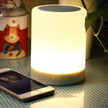 Wireless Bluetooth Speaker Stereo Sound Colorful Touch LED Light Lamp Music Player LED Lamp Bluetooth Speaker with USB TF FM