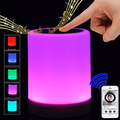 Wireless Bluetooth Speaker Stereo Sound Colorful Touch LED Light Lamp Music Player LED Lamp Bluetooth Speaker with USB T