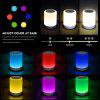 Wireless Bluetooth Speaker Stereo Sound Colorful Touch LED Light Lamp Music Player LED Lamp Bluetooth Speaker with USB TF FM - COLORFUL