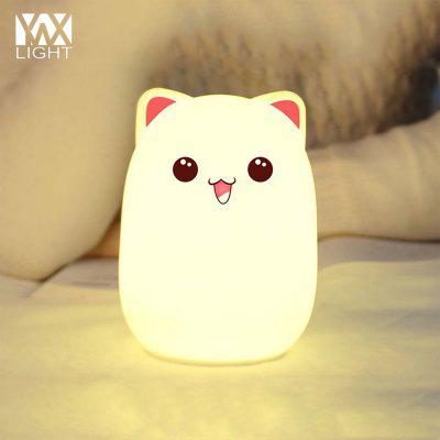 YWXLight Night Light USB Rechargeable Multi Color Silicone Soft Bud Bear Lamp