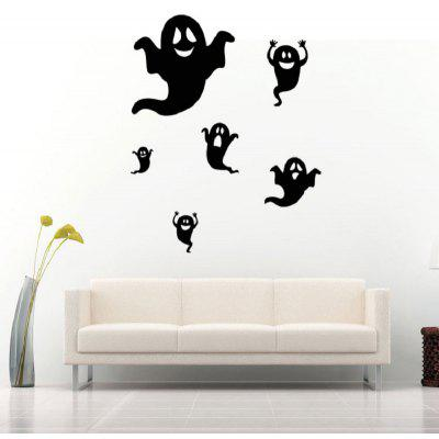 Buy BLACK Happy Halloween Black Ghost Wall Sticker Window Home Decorated Decor for $2.93 in GearBest store
