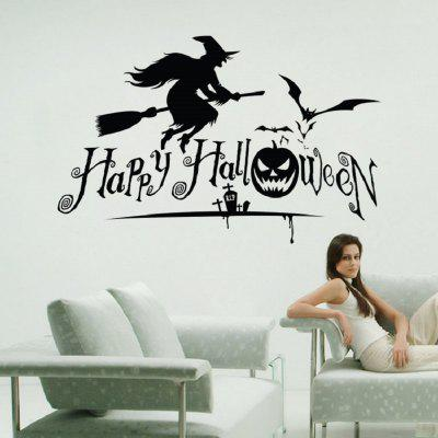 Happy Halloween Flying witch Bat Home DecorWall Stickers<br>Happy Halloween Flying witch Bat Home Decor<br><br>Art Style: Plane Wall Stickers<br>Artists: Others<br>Brand: DSU<br>Color Scheme: Black<br>Effect Size (L x W): 52.3 x 82cm<br>Function: Decorative Wall Sticker<br>Layout Size (L x W): 54.5 x 58cm<br>Material: Self-adhesive Plastic<br>Package Contents: 1 x Wall Sticker<br>Package size (L x W x H): 56.00 x 5.00 x 5.00 cm / 22.05 x 1.97 x 1.97 inches<br>Package weight: 0.1500 kg<br>Product size (L x W x H): 54.50 x 58.00 x 0.10 cm / 21.46 x 22.83 x 0.04 inches<br>Product weight: 0.1000 kg<br>Quantity: 1<br>Subjects: Holiday,Letter<br>Suitable Space: Bathroom,Bedroom,Boys Room,Dining Room,Game Room,Girls Room,Kids Room,Kids Room,Kitchen,Living Room,Pathway,Study Room / Office<br>Type: Plane Wall Sticker