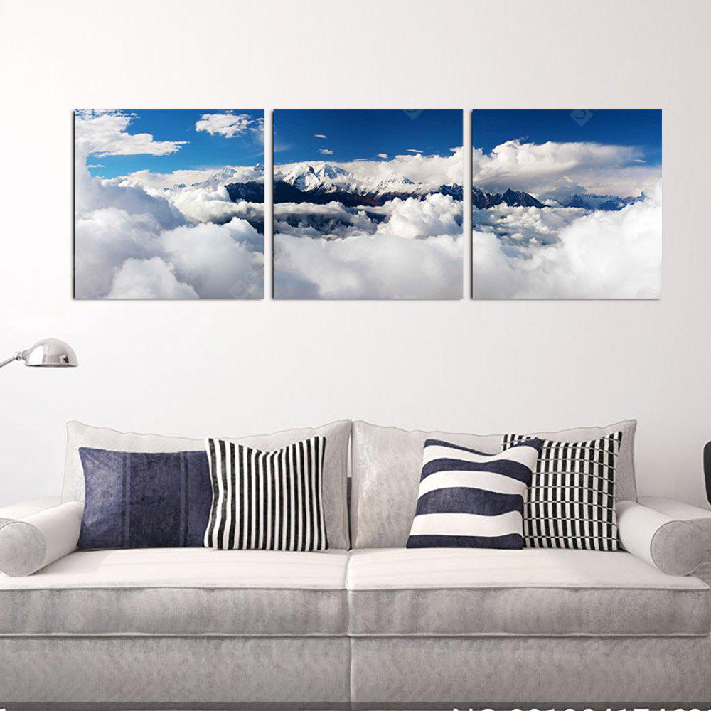 YHHP 3 Panels Blue Sky Picture Print Modern Wall Art Canvas Unframed