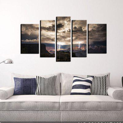 Buy COLORMIX YHHP 5 Panels Grand Canyon Lightning Picture Print Modern Wall Art on Canvas Unframed for $24.93 in GearBest store