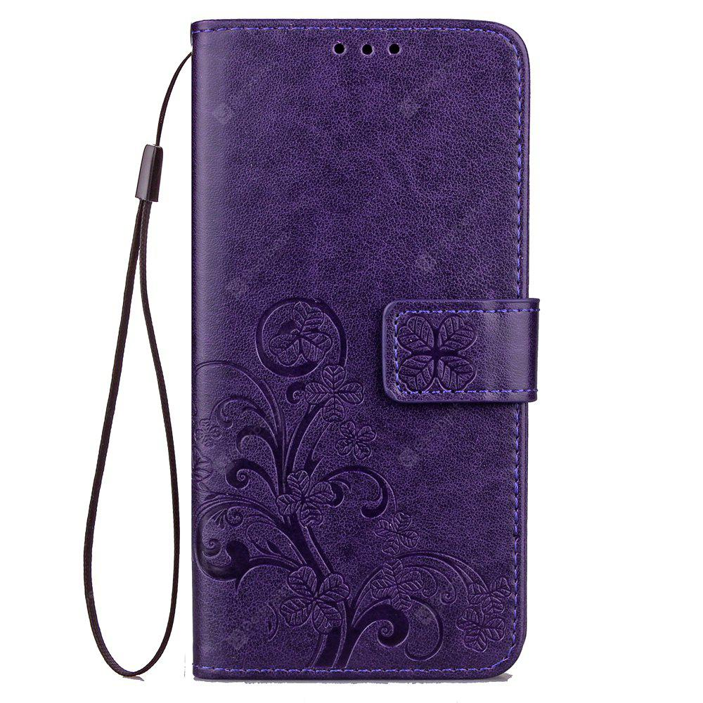 Lucky Clover Holster Leaf Card Lanyard Pu Leather para iPhone 8