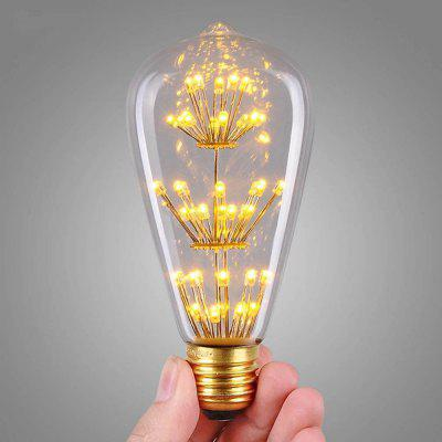 SUPli 1Pack Vintage Edison Bulbs AC 220V - 240V 3W Bright Starry Style Squirrel Cage Light Bulb for Home Lamp Lighting Fixtures Decorative Antique Filament Nostalgic Glass E27 Medium Base Warm Yellow