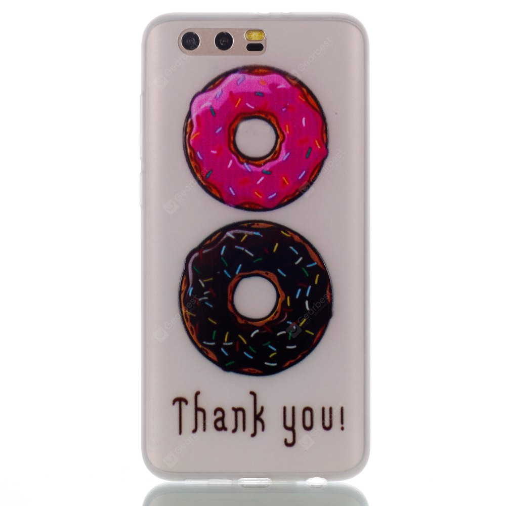 Wkae Two-tone Doughnut Colorful Pattern Noctilucent Soft Transparent Case for HUAWEI Honor 9