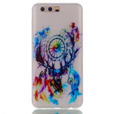 Wkae Colorful Deer Head Wind Bell Pattern Noctilucent Soft Transparent Case for HUAWEI Honor 9