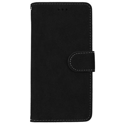 Wkae Grind Arenaceous PU Leather Flip Stand Case com Carteira e Three Card Slots para Samsung S8