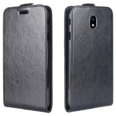 Buy BLACK Durable Crazy Horse Pattern Up and Down Style Flip Buckle PU Leather Case for Samsung Galaxy J3 2017 (Asia and Europe Edition) for $5.67 in GearBest store