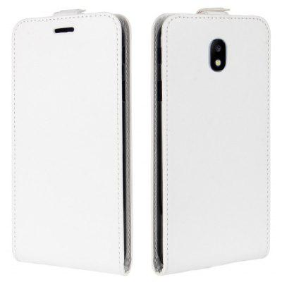 Buy WHITE Durable Crazy Horse Pattern Up and Down Style Flip Buckle PU Leather Case for Samsung Galaxy J3 2017 (Asia and Europe Edition) for $5.67 in GearBest store