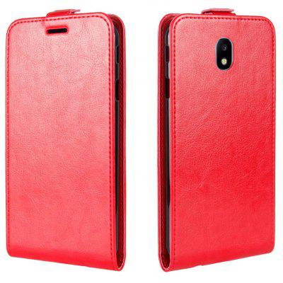 Buy RED Durable Crazy Horse Pattern Up and Down Style Flip Buckle PU Leather Case for Samsung Galaxy J3 2017 (Asia and Europe Edition) for $5.67 in GearBest store