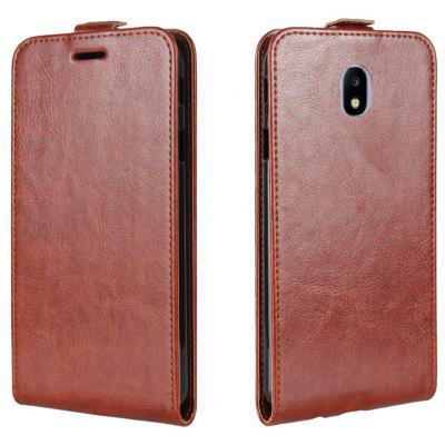 Buy BROWN Durable Crazy Horse Pattern Up and Down Style Flip Buckle PU Leather Case for Samsung Galaxy J3 2017 (Asia and Europe Edition) for $5.67 in GearBest store