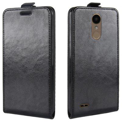 Buy BLACK Durable Crazy Horse Pattern Up and Down Style Flip Buckle PU Leather Case for LG K10 2017 (Europe Edition) for $5.67 in GearBest store