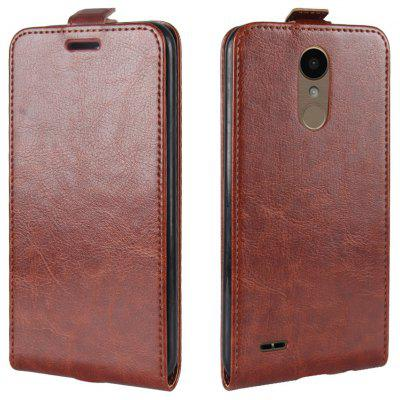 Buy BROWN Durable Crazy Horse Pattern Up and Down Style Flip Buckle PU Leather Case for LG K10 2017 (Europe Edition) for $5.67 in GearBest store
