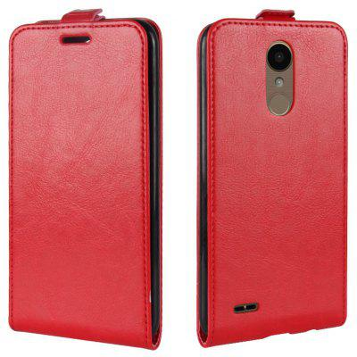 Buy RED Durable Crazy Horse Pattern Up and Down Style Flip Buckle PU Leather Case for LG K10 2017 (Europe Edition) for $5.67 in GearBest store