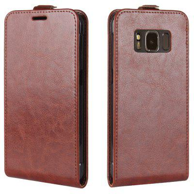 Buy BROWN Durable Crazy Horse Pattern Up and Down Style Flip Buckle PU Leather Case for Samsung Galaxy S8 Active for $4.93 in GearBest store