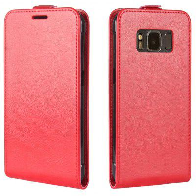 Buy RED Durable Crazy Horse Pattern Up and Down Style Flip Buckle PU Leather Case for Samsung Galaxy S8 Active for $4.93 in GearBest store