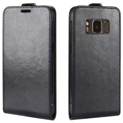 Durable Crazy Horse Pattern Up and Down Style Flip Buckle PU Leather Case for Samsung Galaxy S8 Active