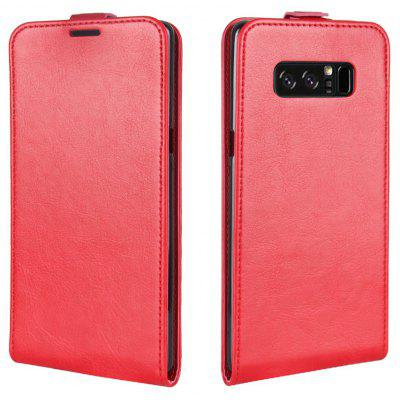 Buy RED Durable Crazy Horse Pattern Up and Down Style Flip Buckle PU Leather Case for Samsung Galaxy Note 8 for $5.67 in GearBest store
