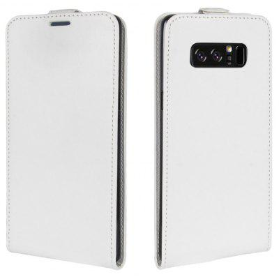 Buy WHITE Durable Crazy Horse Pattern Up and Down Style Flip Buckle PU Leather Case for Samsung Galaxy Note 8 for $5.67 in GearBest store