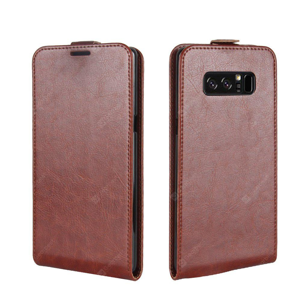 Durable Crazy Horse Pattern Up and Down Style Flip Buckle Bolsa de couro PU para Samsung Galaxy Note 8
