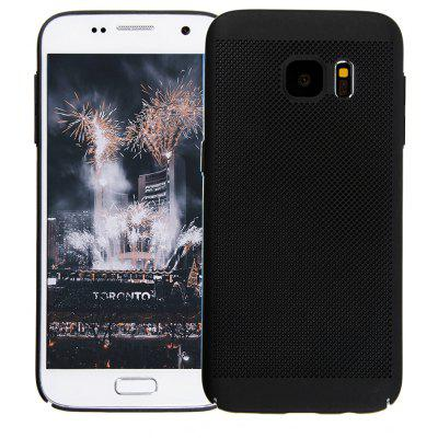 Moda Ultra-Thin Respirável Cooling Mesh Hard Cover do telefone para Samsung Galaxy S7