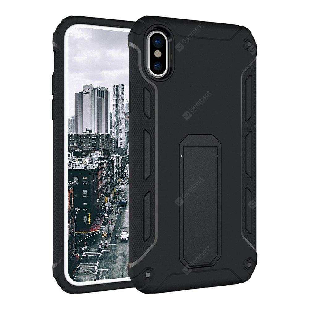 Hybrid Dual Layer Rugged Shockproof Drop Proof Hard Back Cover Caso protetor Kickstand para iPhone 8