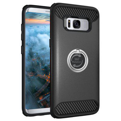 Rugged Rubber Heavy Duty Tough Dual Layer 2 in 1 360 Degree Rotating Ring Kickstand Protective Case for Samsung Galaxy S8 - $2.81 Free Shipping|GearBest.com