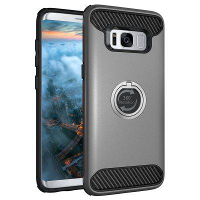 Rugged Rubber Heavy Duty Tough Dual Layer 2 em 1 360 Degree Rotating Ring Kickstand caso protetor para Samsung Galaxy S8